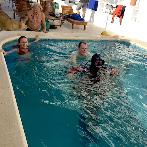Photo of diving training in pool