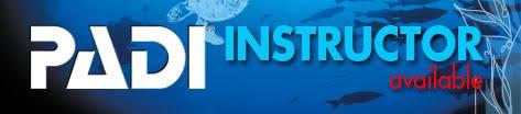 PADI instructor available logo